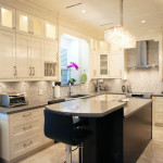 Open Kitchen With Quartz Countertops and Stainless Steel Appliances