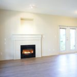 Gas Fireplace and French Doors
