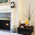 Gas Fireplace with Elegant Mantle