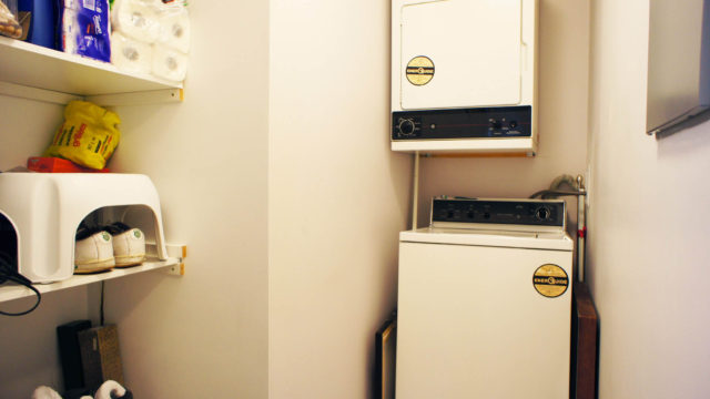 In-suite Laundry Room With Washer and Dryer