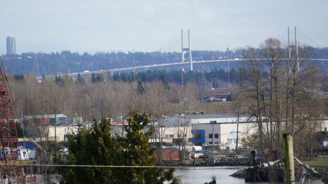 View of Alex Fraser Bridge