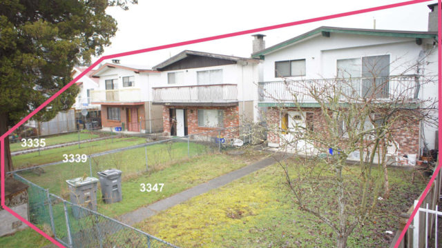 3335, 3339 and 3347 Clive Ave., Vancouver, B.C.
