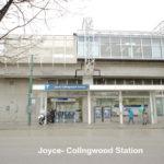 Joyce-Collingwood Station Across the Street